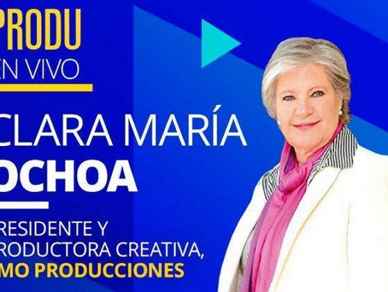 HOY - Clara María Ochoa  y Ana Piñeres de CMO Producciones estará EN VIVO en el Especial Colombia de PRODU